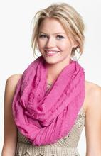 Infinity scarves with more solid color options, ladies scarves, viscose scarf with high quality