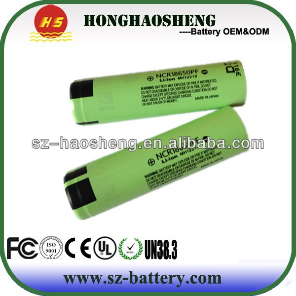 for Panasonic 3.7V 18650 li-ion rechargeable battery 3400mah