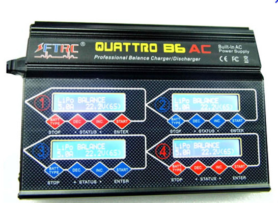 RC Balance lipo battery charger 4B6AC 50W 1-6S Cell lipo battery for helicopter