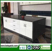 Dark Grey Prefabricated Quartz Stone Top, Quartz Dining Tables for Sale