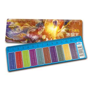 3D Stationery lenticular ruler with LOGO printing for promotion
