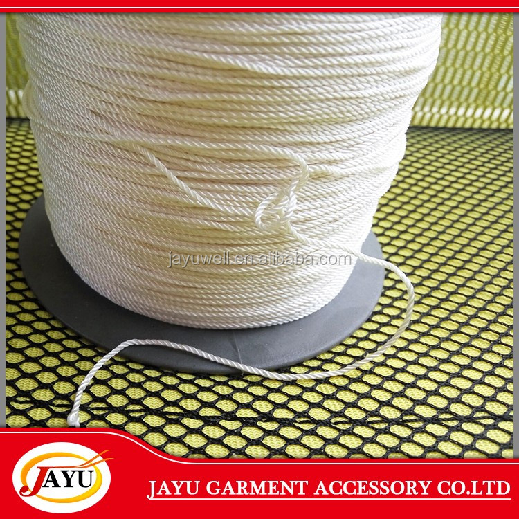 Polyester Waxed cotton string for hand tag OEM diameter good quality black waxed polyester cotton string