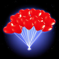 Heart Shaped Led Light Up Balloons for Wedding and Party Decorations