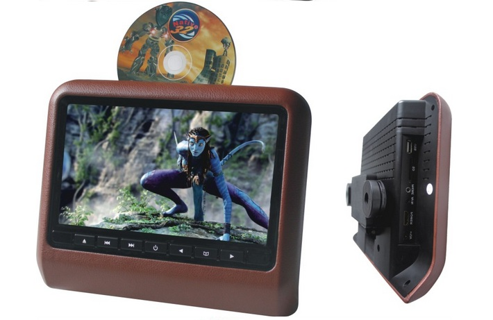 9 Inch car headrest monitor dvd player for car