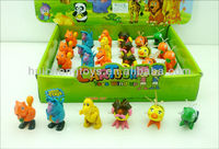 6 assorted cute mini animal cheap wind up toy