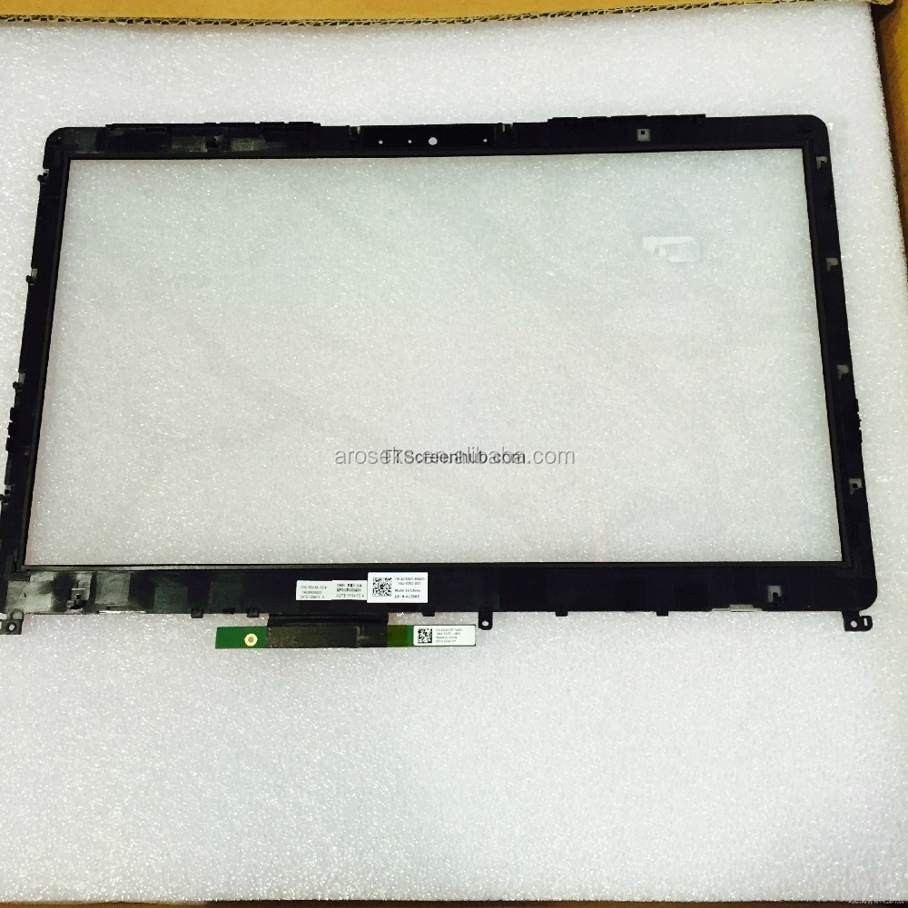 Durable in use touch glass with frame AP0WR00400 for dell 15 5000