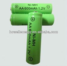 nimh aa 100mah 1.2v aa rechargeable battery/China battery manufacturer NiMh series/NiMh battery cell and pack