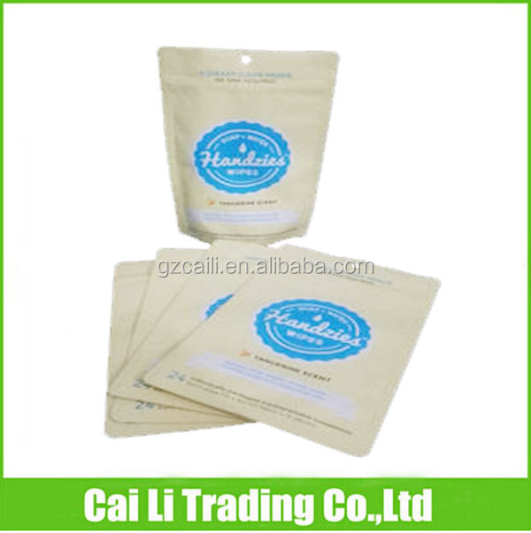 bottom gusseted laminated stand up ziplock paper sachet