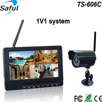 "Saful TS-606C 1V1 home use recording function HD color 7"" wireless camera and babysitter/elder man monitor DVR"
