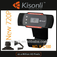 Auto Focus 1600X1200 60fps Full HD 720P Digital USB 3 LED Webcam PC Camera Mini Packing Driver