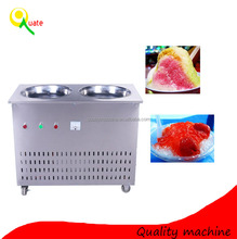 flat pan fried ice cream machine / rolled ice cream machine