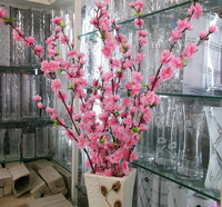 factory direct indoor decorative artificial cherry blossom branch wholesale