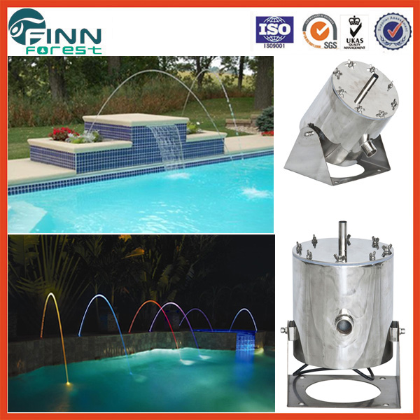 Easy control garden laminar fountain water distance 3-4m stainless steel mini colorful jumping jet fountain