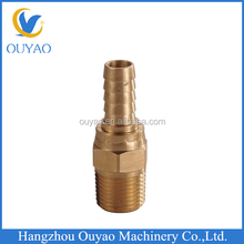 Male thread brass swivel hose nipple