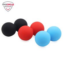 Popular Double Custom Logo Rubber Massage Ball, Lacrosse Ball