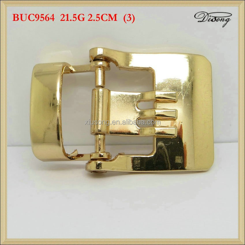 Fashion fancy design gold plating zinc alloy belt buckle for women belt