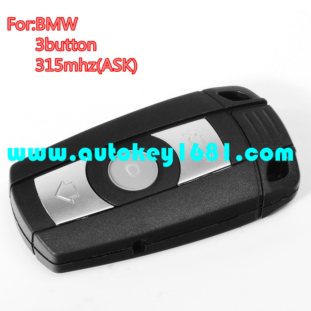 MS car keys for bmw 3 5series smart card 315mhz LP with ID46(7952) chip remote key uncut small key