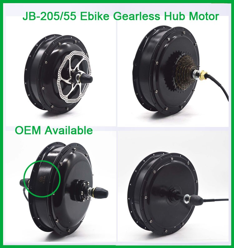 CZJB-205/55 2kw High Torque Brushless Electric Bicycle DC Motor