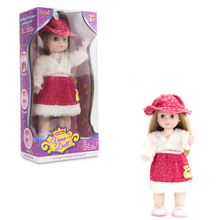 Multifunction intelligent dialogue English walking doll
