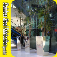 Bespoke Decorative Stainless Steel Outdoor Flower Pot Stands