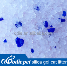 silica gel cat litter with 95% crystal & 5% blue granules, silica gel litter sand ,silica cat sand