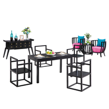 Wooden Rectangle Dining Table and Chair Set for Home Modern Simple Solid Wood Restaurant <strong>Furniture</strong>