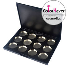 Magnetic eyeshadow compact 12 color eyeshadow cases Empty eyeshadow palettes wholesale