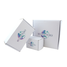 Folding corrugated cardboard box custom printed white electronic paper packaging box