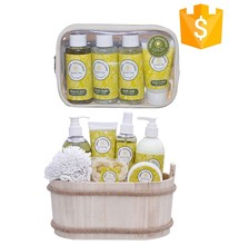 wholesale promotion christmas skin whitening cream angel vanilla natural aromatic spa bath gift set