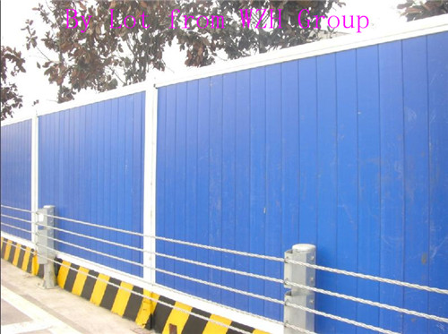 hoarding combines Steelwall colorbond panel fence