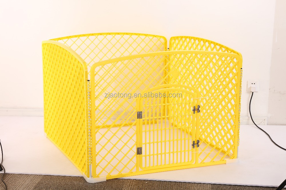 Aotong 4 Panels Portable Puppy Exercise Fence Play Pen