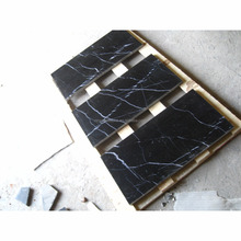 marble type black marble tile with white veins for price