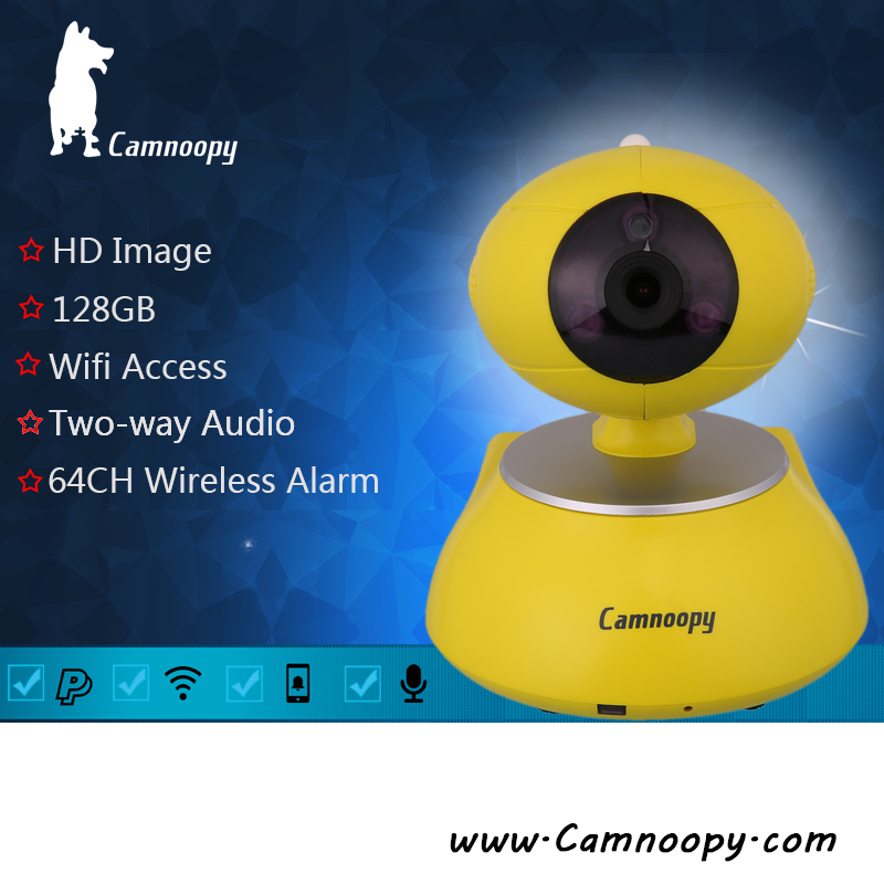 Camnoopy Mini WiFi Intelligent Network ptz pan tilt camera 720P indoor P2P Smart Home Wireless IP Camera with ups