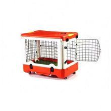 Factory supplier metal iron animal portable dog transport cage for sale