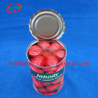 Canned strawberry 3kg canned fruit in syrup