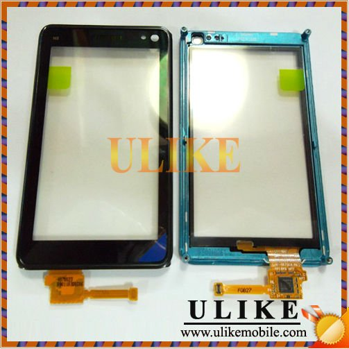 Mobile Phone Touch Digitizer Screen With Frame For Nokia N8