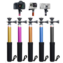 Hot Sale Aluminum Sports Camera GoPros Selfie Stick with 1/4 Screw Adapter Monopod Extendable Handheld Pole Mount