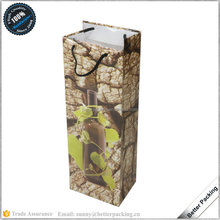 Retail Cheap Printed Paper 1 bottle Wine Bag
