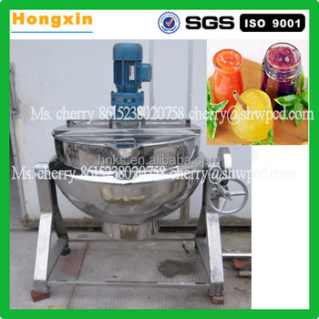 HX-50 Automatic stainless steel large tiltable jacketed kettle industrial steam cooking pot