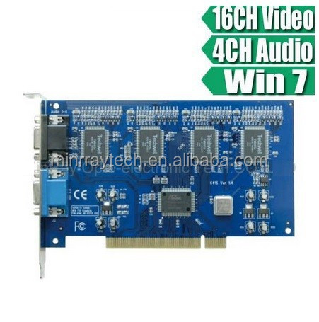16CH H.264 CCTV Real-time Recording DVR Card Audio Computer Digital Video Recording Card MR-6416E