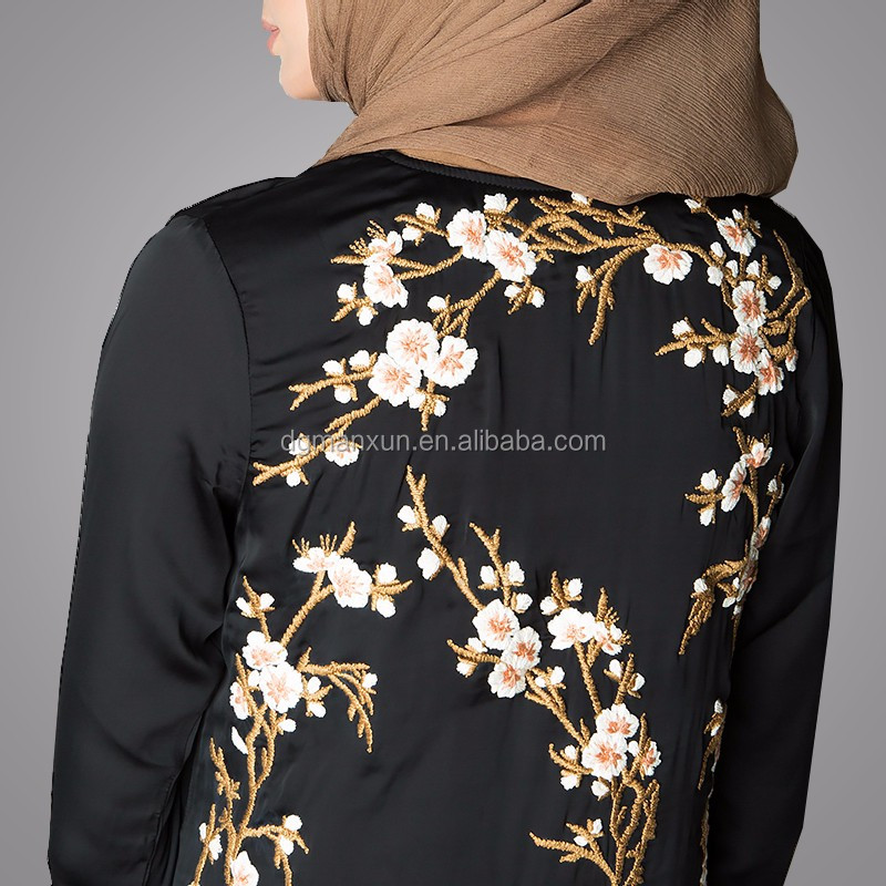 Pakistani Burqa Designs Latest Fashion Cardigan Embroidered Open Abaya Black Muslim Long Clothes For Ladies (6).jpg