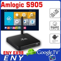 Quad Core Amlogic S905 64Bit Android 5.1 Lollipop TV Box Ultra 4K X98 Root Access Android Google TV Box Set Top Box