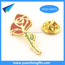 Gold Lapel Pins Flower Custom Metal enamel pins for crafts