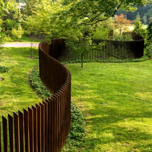 2017 New design corten steel used garden fencing t posts for sales
