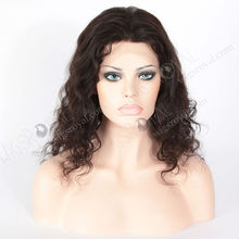 hot sale tangle free Brazilian human hair full lace wig freestyle part