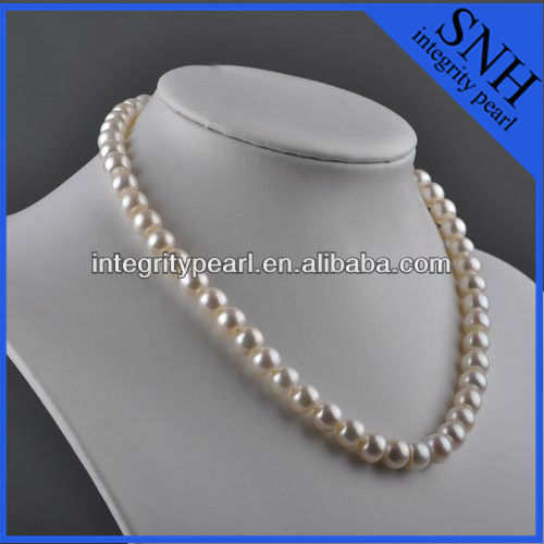 8mm AAA button pearl necklace pictures