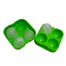 2016 Latest Item ice maker 4 cavity silicone ice pop ball