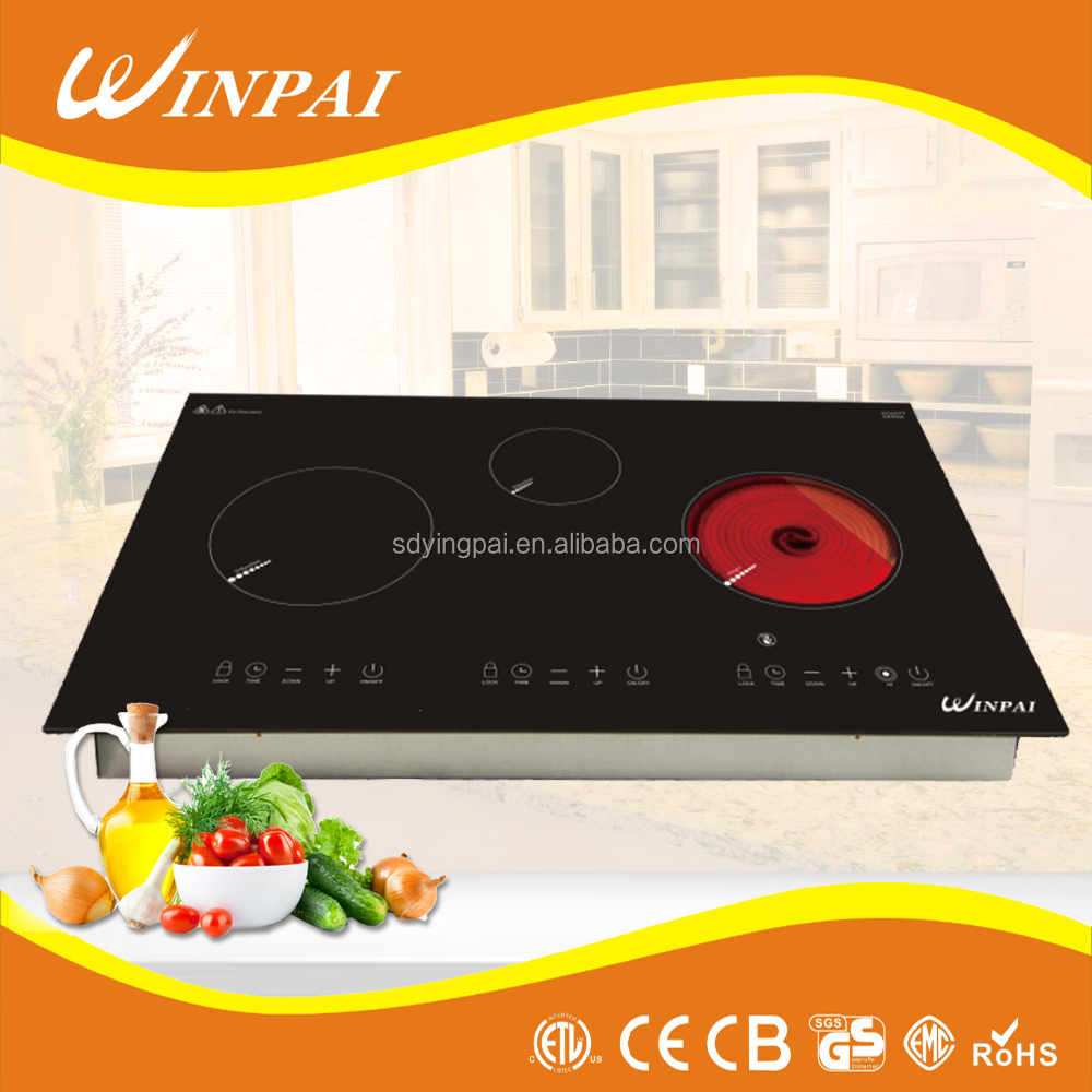 Multi-function 3 Burner Induction Hotplate