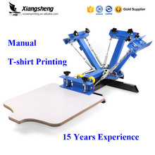 4 color 1 station silk screen printing press machine