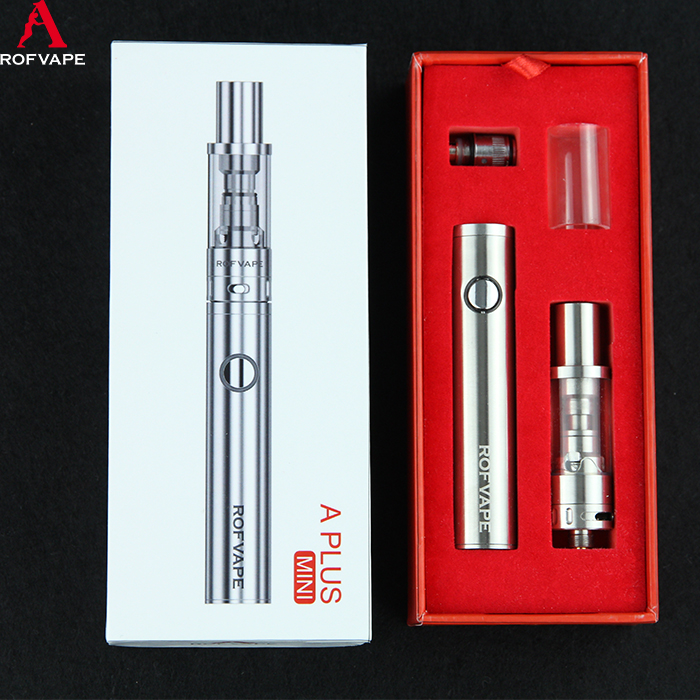 2016 Rofvape A Plus Mini Ego Electronic Cigarette Vaporizer Pen Kit with stainless steel body
